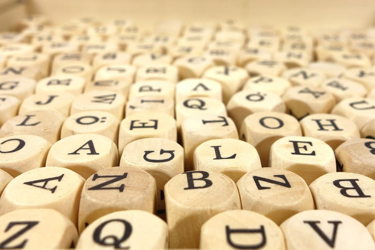 verschiedene Tasten und Buchstaben