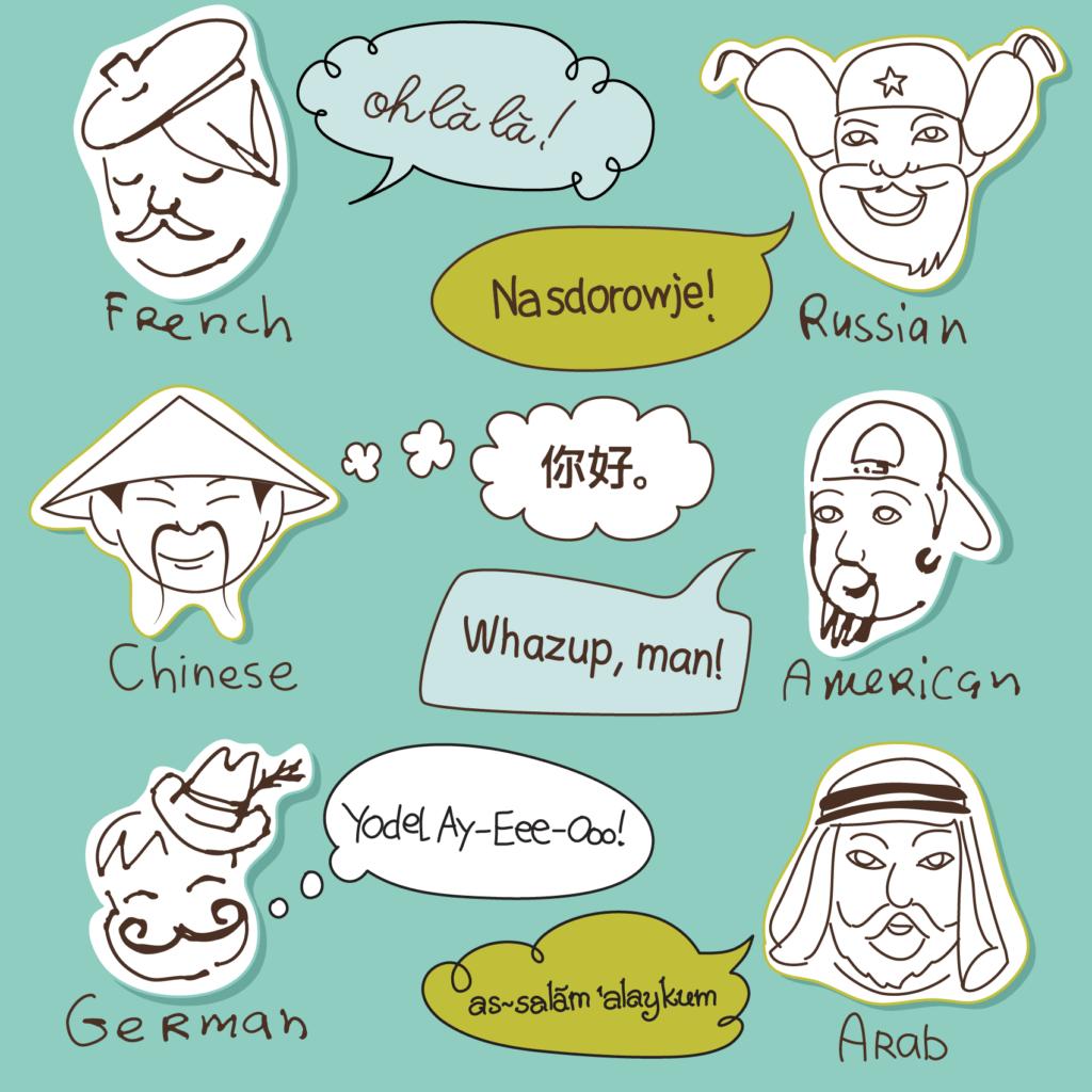 Verschiedene Stereotypen
