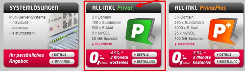 Allinkl - Privatplus