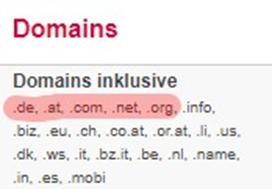 Domains-zur-Verfügung