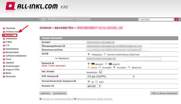 Kas-Member-Bereich für SSL-Zertifikat